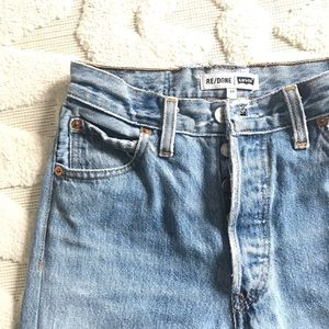 Levi's Re/Done high rise crop distressed jeans 23